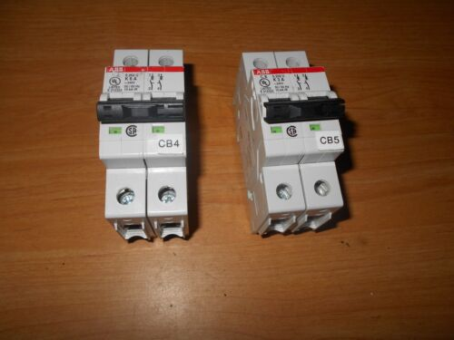 2  new  ABB circuit breakers