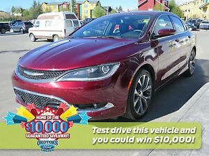 2016 Chrysler 200 C Clean Carproof, low kms, lots of features