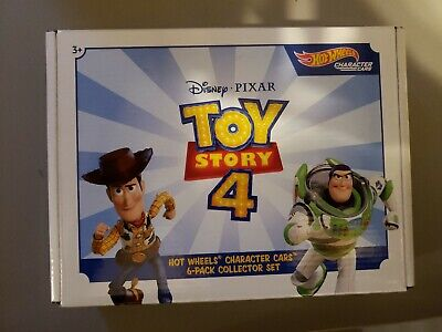 Toy Story 4 Box Set of 6 Cars - Toy Story Character Cars - Hot Wheels (2019)
