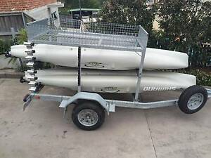 2x Hobie Outback kayaks on custom trailer Dee Why Manly Area Preview