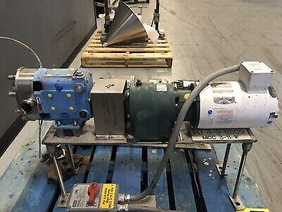 Waukesha 018u2 Positive Displacement Rotary Pump 1hp 3ph 60hz 230460v