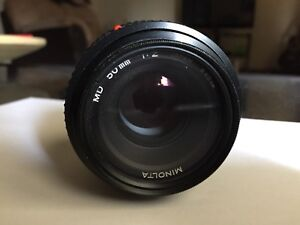 EUC Minolta MD 1:2 50mm Prime f/2 Lens - Made in Japan