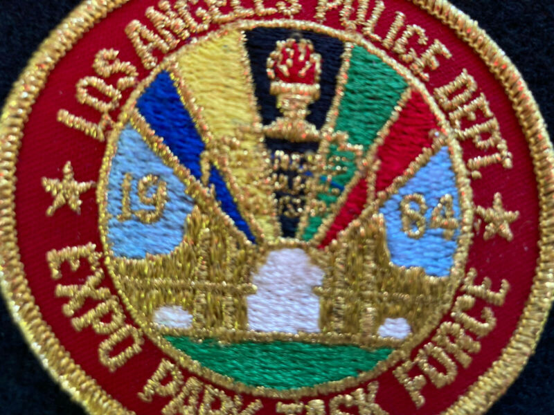 Vintage LAPD Los Angeles Police Department Task Force Expo Park 1984 Olympics