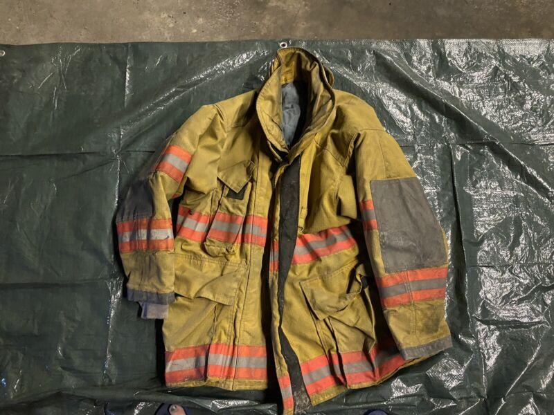Vintage Quaker Firefighter Bunker Turnout Coat 50 Chest Jacket Gear