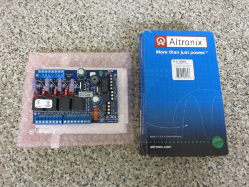 New Altronix ACM4 12/24V AC/DC 4 Fuse Protected Outputs Access Power Controller