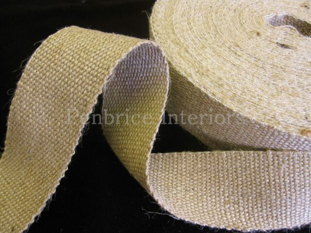 2 mts of STRONG jute upholstery chair webbing seat seating tape - 2 inch 11lb