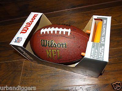 13390 / Neu Wilson NFL Fußball (Offizielle Größe) mit Pumpe & Tee Junior Muster (Wilson Nfl Offizielle Größe Football)