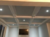 Crown Moulding , Wainscotting and Coffered Ceilings