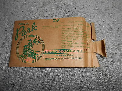Vintage    Seed Packet   Geo  W  Park Greenwood  Sc Succulents Mixed
