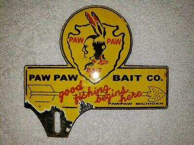 Porcelain Paw Paw Bait Co. Sign