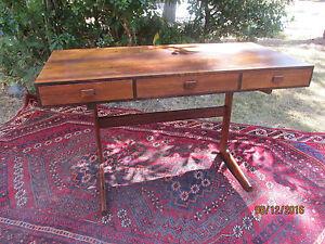 Danish 1960s Rosewood MCM Desk Vintage Georg Petersens Mid Century Modern