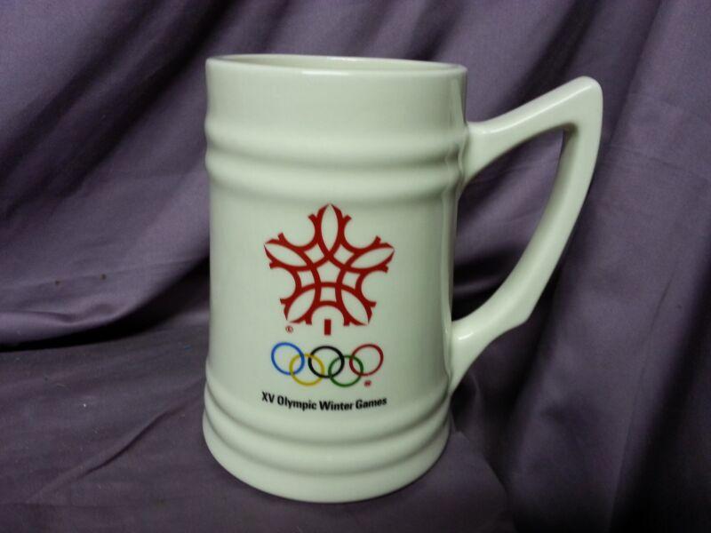 1988 OLYMPIC GAMES BEER STEIN MUG CALGARY CANADA  OLYMPICS Vintage