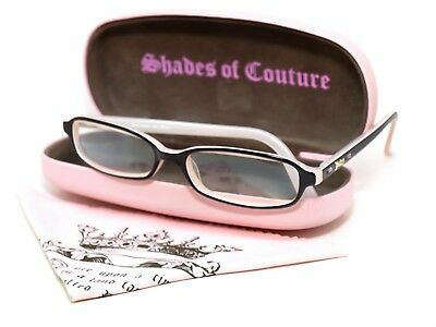 Juicy Couture Women's Eyeglasses Rectangular Frame Italy 50[]15 135 Rhinestones