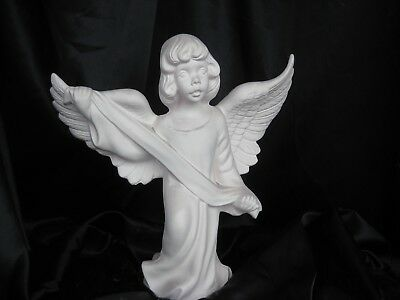 """04 Ceramic Bisque  Large Angel 20"""" tall You Paint"""