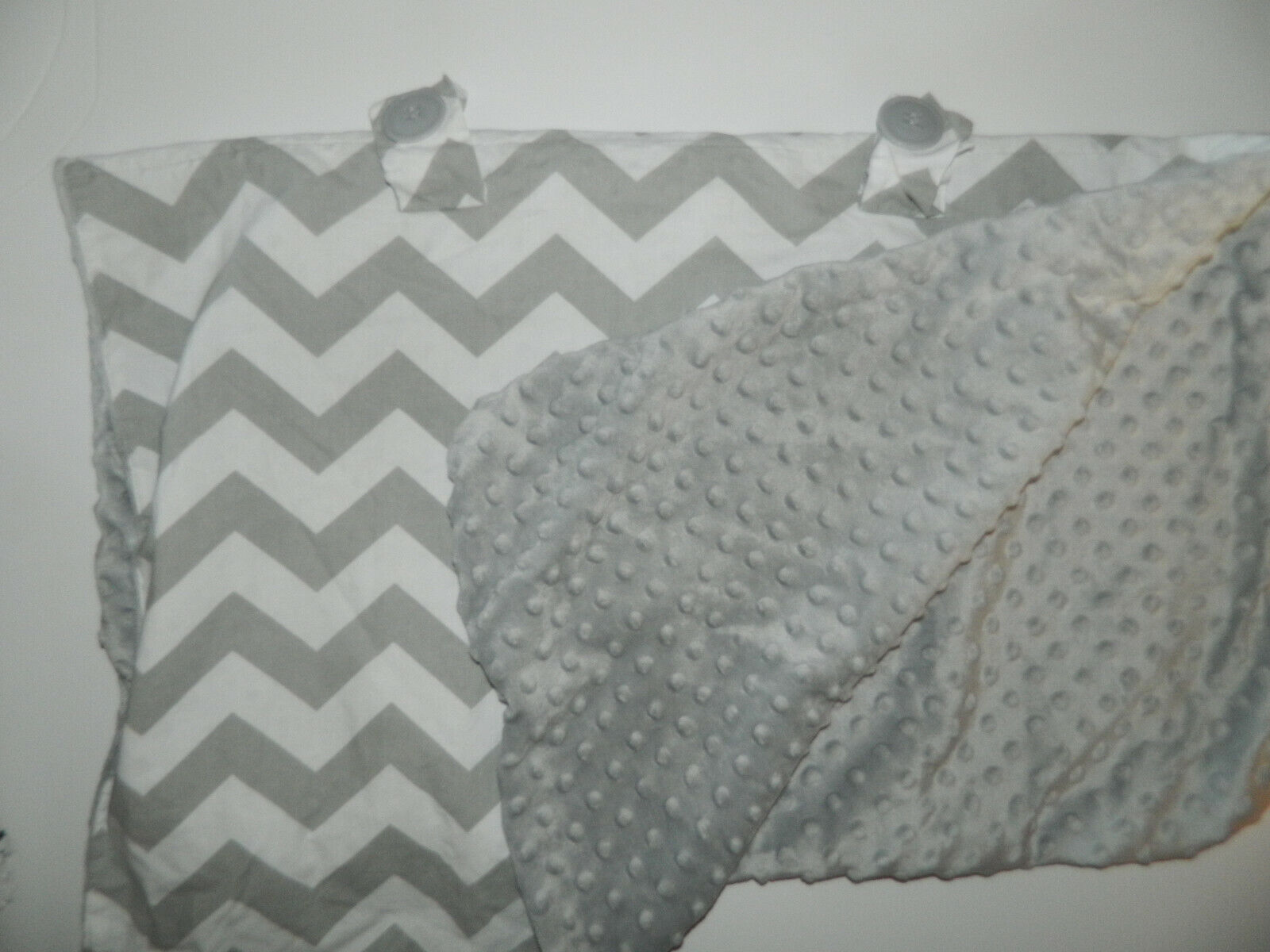 CARSEAT CANOPY Boys Girls Gray White Chevron Minky INFANT CAR SEAT COVER - $12.99