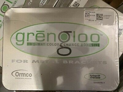 Ormco Grengloo Kit Brand New Sealed Usa Seller 740-0320 Exp 821