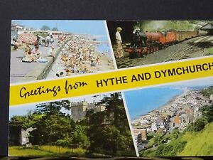 Postcard-C1970s-Postcard-with-4-Views-Of-Hythe-Dymchurch-Kent
