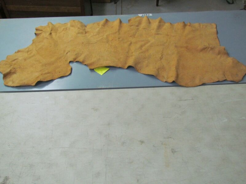 "63"" X 26"" TRADITIONALLY TANNED, MOOSE HIDE, SOFT, SEW READY, RECTANGULAR SHAPE"
