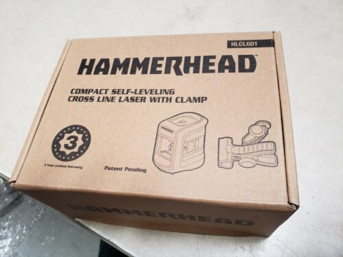 HAMMERHEAD HLCLG01 Green Beam COMPACT Self-Leveling Cross Line Laser New