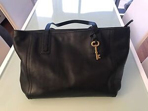 Fossil Emma Tote Black Leather Homebush West Strathfield Area Preview