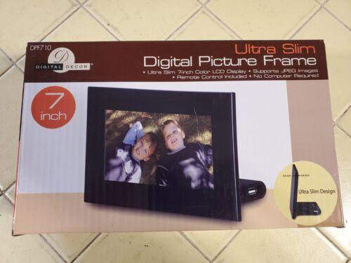"Ultra Slim 7-Inch Color LCD Digital Picture Frame w/ Remote Control 7"" -- DPF710"