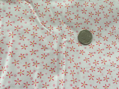 100 % COTTON PINK STAR DAISY FLOWERS ON WHITE BY THE YARD QUILT FABRIC BTY SALE](Prima Flowers Sale)