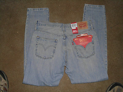 Womens New Levi's 501 Distressed Customized & Tapered Leg Jeans Size 25 x 28