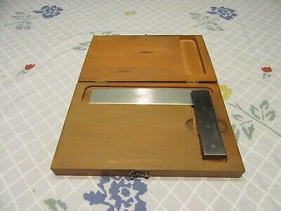 Starrett No. 55 Square Beveled Edge 6 W Box Case Machinist 55-6 6 Inch