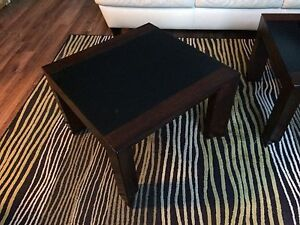 Wood and Glass end tables