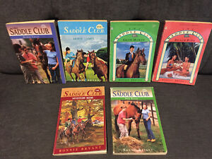 6 Saddle Club books