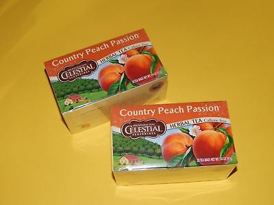 2 PACK Celestial Seasonings Country Peach Passion Herbal Tea Bags
