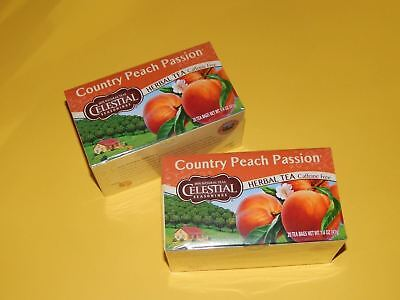 2 PACK Celestial Seasonings Country Peach Passion CHRISTMAS GIFT