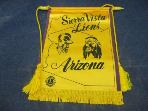 Vintage Lions Club International Banner Flag Sierra Vista Arizona Mountain View