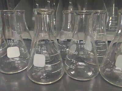 1corning Pyrex 125ml Erlenmeyer Flask 4980 Laboratory Glass
