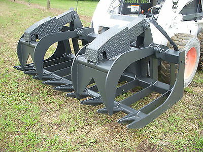 Bobcat Skid Steer Attachment - 80 Heavy Duty Root Grapple Bucket - Ship 199