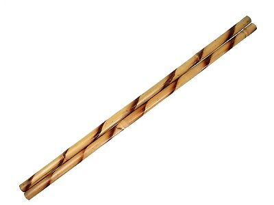 "Escrima Sticks (Pair) 28"" Multi Node Rattan Kali Arnis Spiral Burnt Skin On"