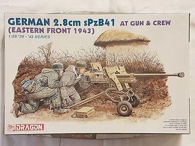 Dragon 6056 German 2,8cm sPzB41 AT Gun & Crew 1:35 Neu und eingetütet
