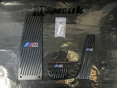 DESIGNER BLACK ALUMINUM PEDAL REST SET fits BMW E60 AUTO TRANSIMISSION