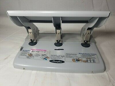Swingline 3 Hole Paper Punch High Capacity Up To 75 Sheets Heavy Duty 74550 F6