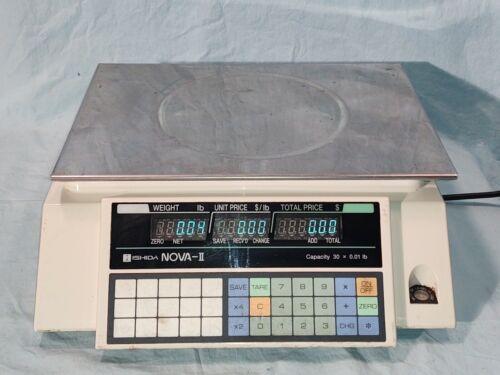 Ishida NOVA II 30lb 30x.01lb Commercial Deli Scale, Double Read Outs