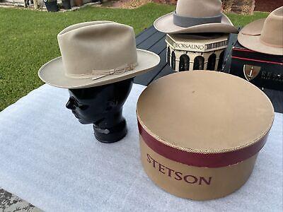 1950s Mens Hats | 50s Vintage Men's Hats Vintage Stetson 1950s Open Road 3X Beaver Taupe 6-7/8 $110.00 AT vintagedancer.com