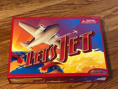 Let's Jet Geography Strategy World Facts Game Simply Fun New! Open Box!