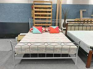 DELIVERY TODAY Silver Queen bed & Comfortable mattress QUICK SALE Belmont Belmont Area Preview