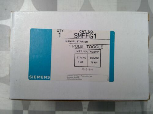 Siemens SMFFG1 1 Pole 1HP 277VAC Manual Starter **Free Shipping**