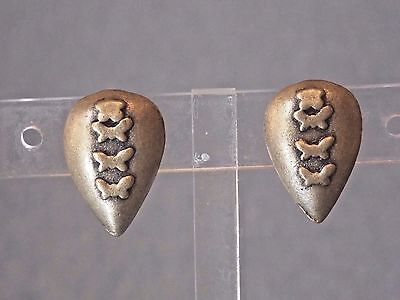 Nwt Jordache Satin  Gold Tone Tear Drop Shaped Huggie Clip On Earrings