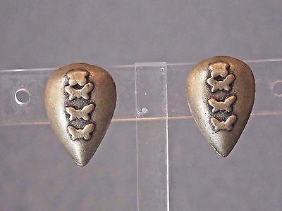 Nwt Jordache Satin  Gold Tone Tear Drop Shaped Huggie Clip On Earrings