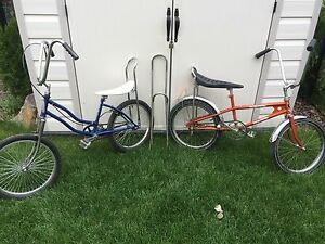 2 vintage low rider bikes for sale.