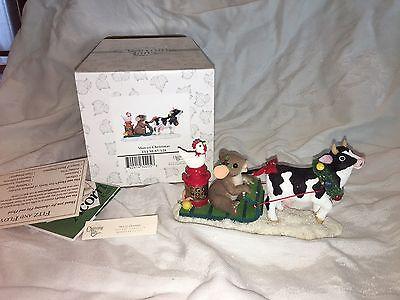 "Charming Tails ""MOO-EY CHRISTMAS "" DEAN GRIFF  NIB COW"