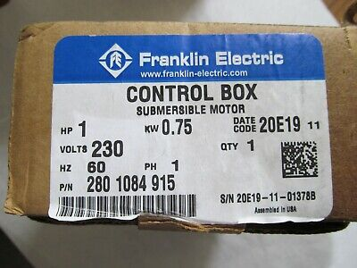 New 1 Hp 230v 1ph Franklin Qd Control Box Submersible Water Pump 2801084915