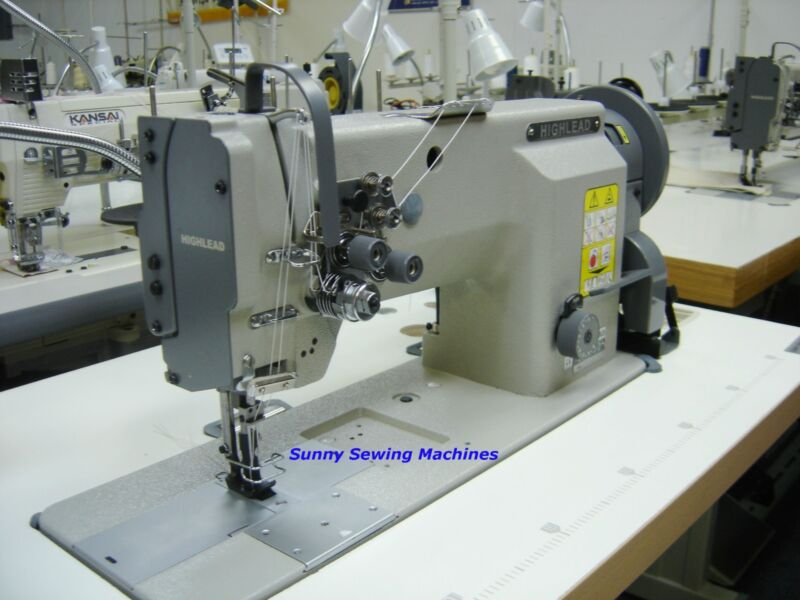 """Highlead GC20618-2 Fully Assembled Double Needle Leather Sewing Machine - 1/4"""""""